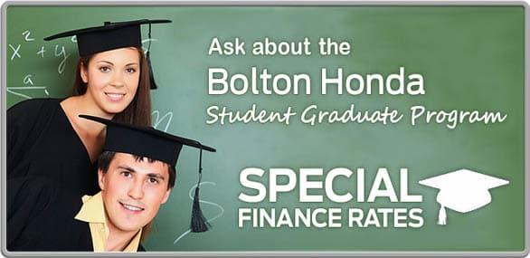 Bolton Honda Student Graduate Program Rebate Special